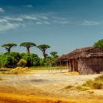 Madagascar - Paysage rural hutte
