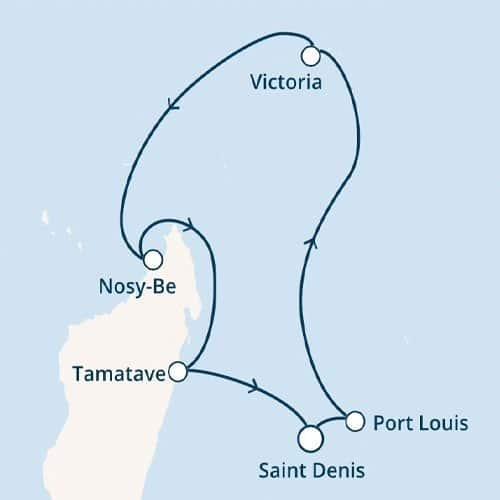 croisiere ocean indien - plan