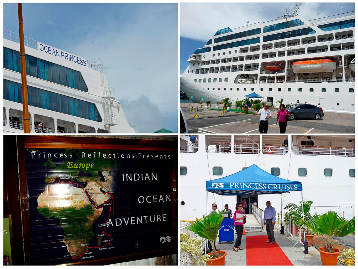 ARTICLE-Ocean Princess cruise ship in port Victoria in Seychelles