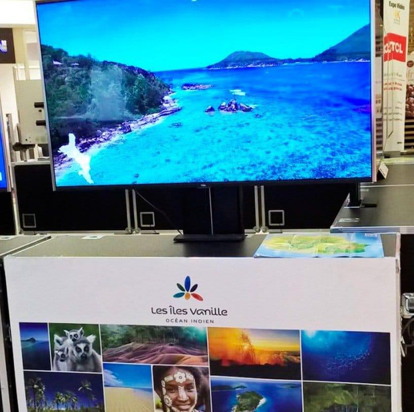 Tour de France video 4K écran seychelles