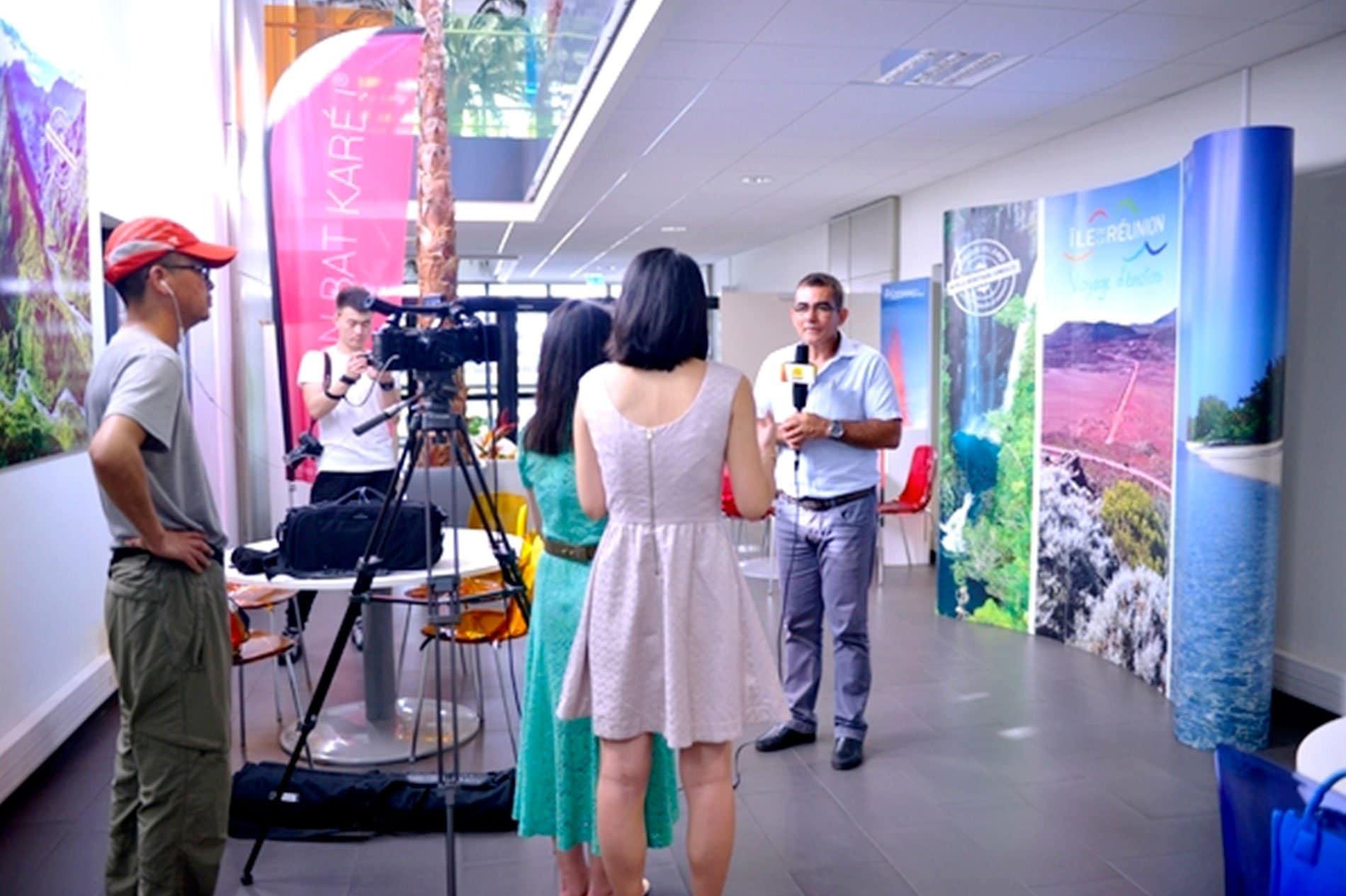 ACCEUIL-L'Île de la Réunion sous l'oeil des caméras de la télévision Chinoise