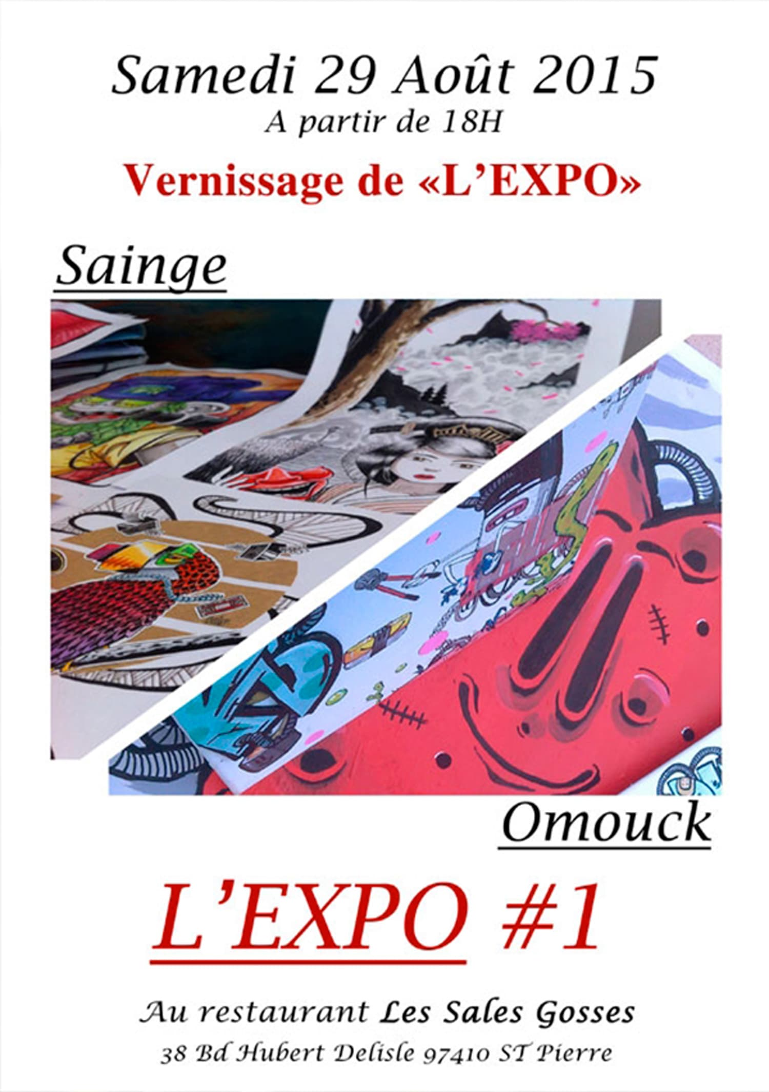ARTICLE-Vernissage de « l'expo » Omouck & Sainge
