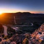 Île de la Réunion - Paysage route coucher de soleil