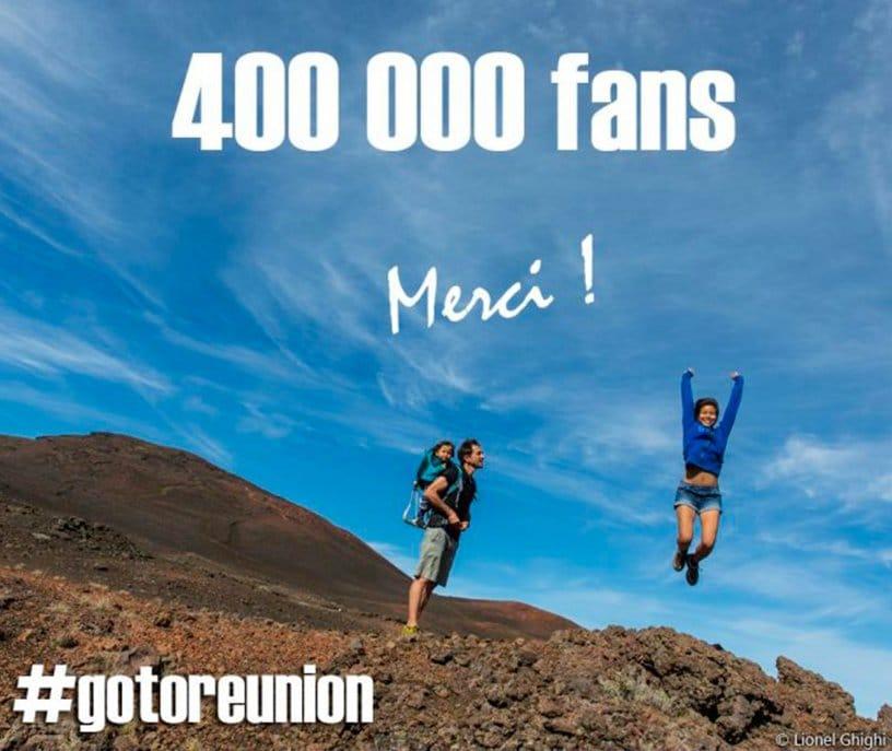 ARTICLE-400.000 fans de la Réunion !
