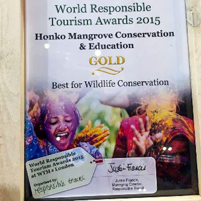 ARTICLE-1er prix pour le world responsible tourism