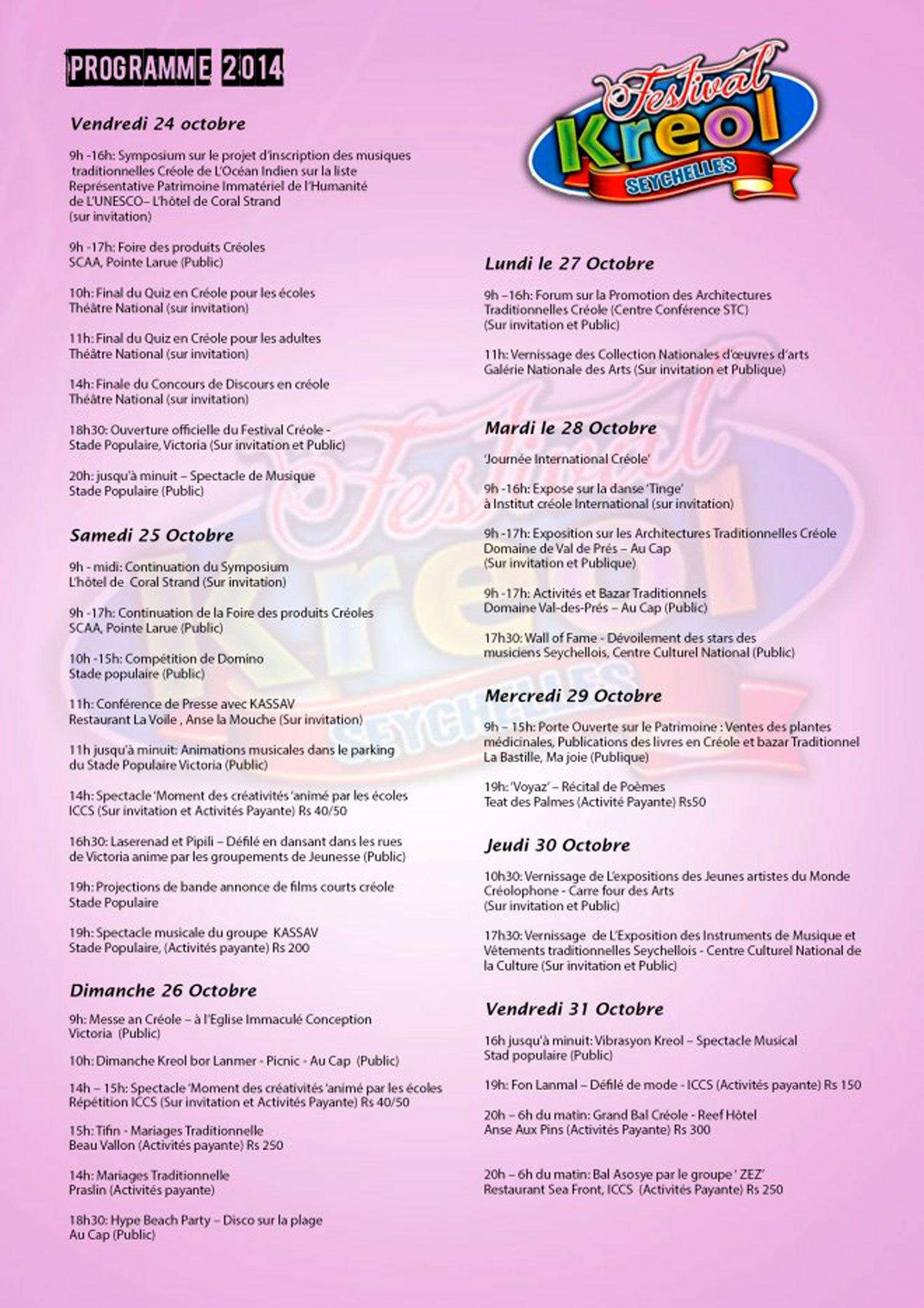 ARTICLE-Le 29ème festival Kreol des Seychelles, la culture à l'honneur