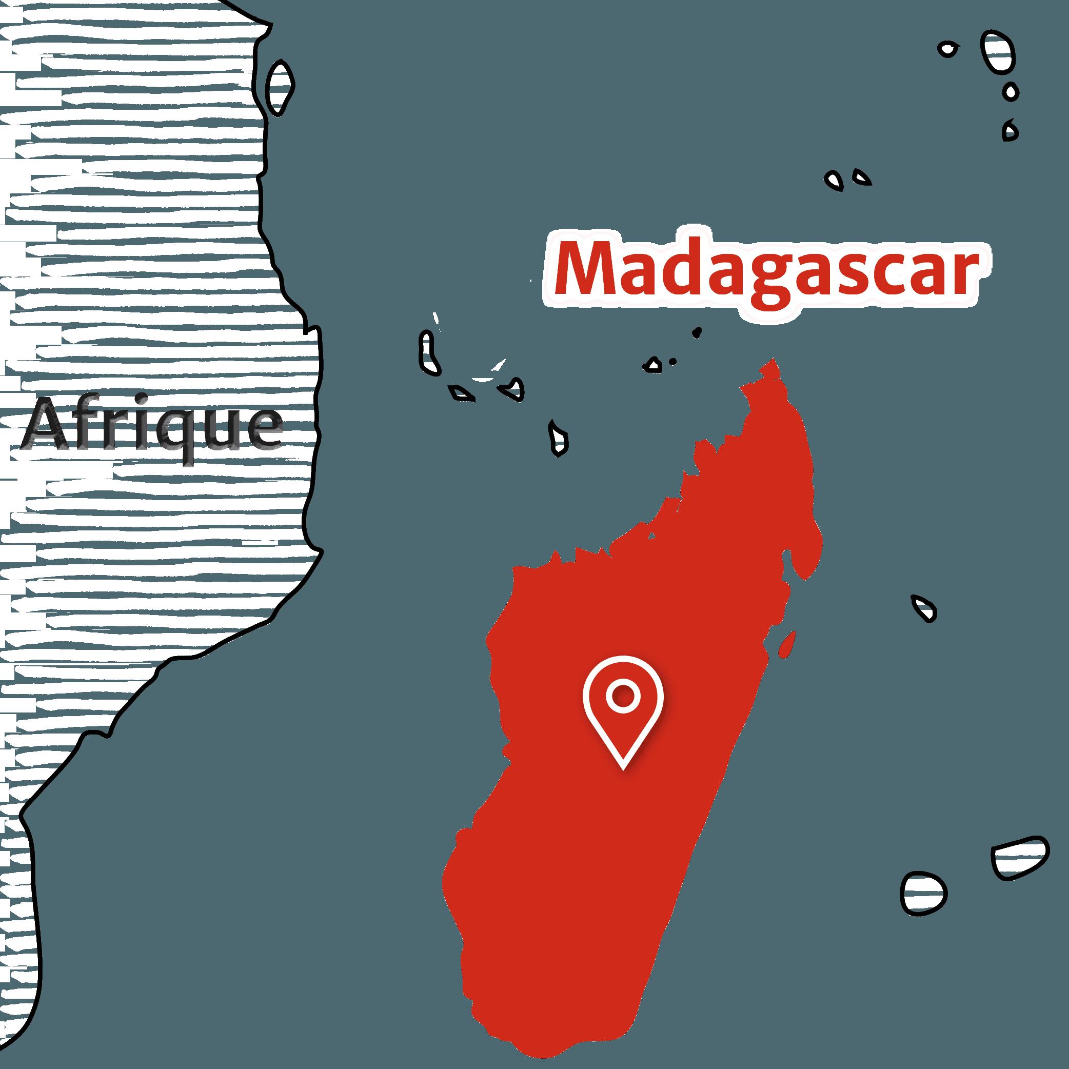 Madagascar - Carte emplacement Madagascar