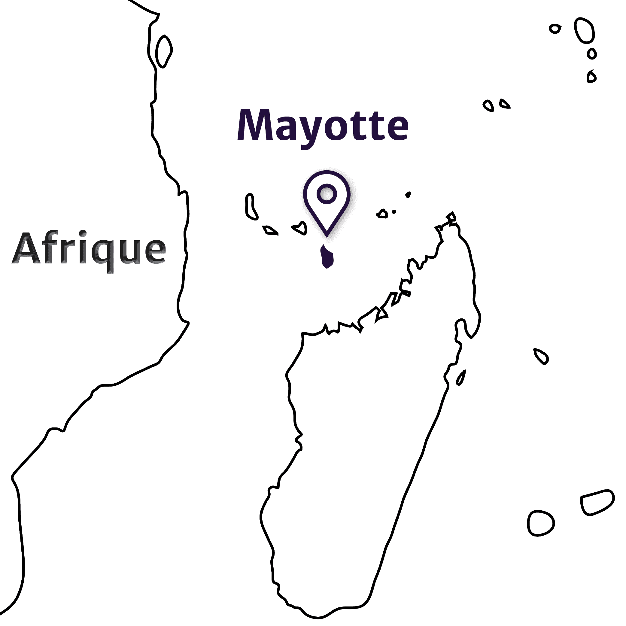 Mayotte - Carte localisation Mayotte