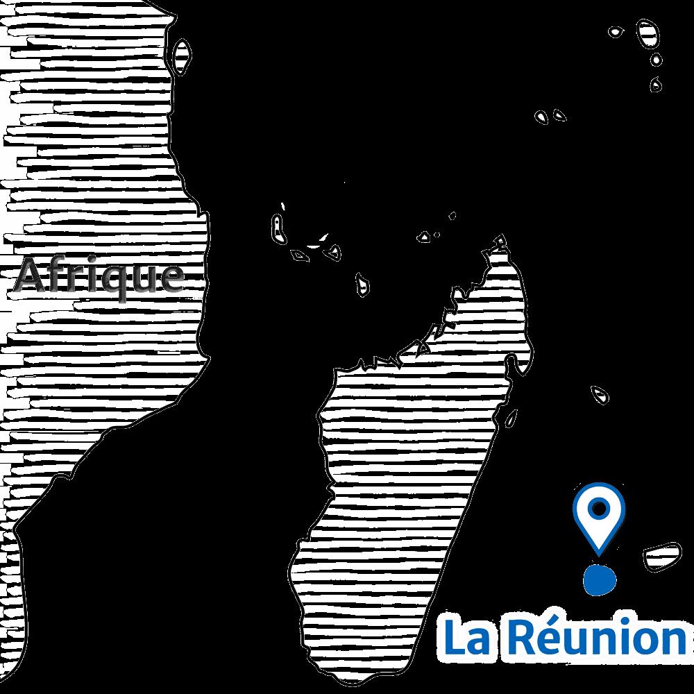 Île de la Réunion - Carte localisation de La Réunion