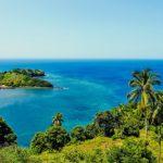 Les Comores - Paysage verdure et océan