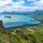 Île Maurice - Vue verdoyante bord d'océan