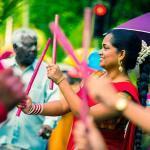 Île Maurice - Danse femme colorée