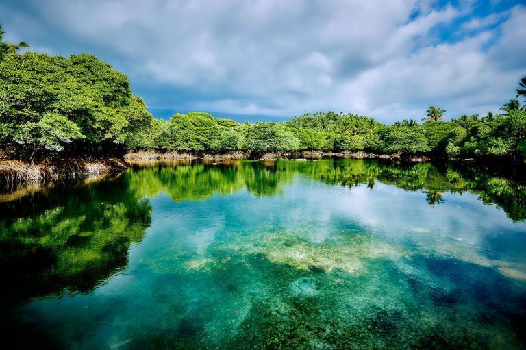 comores lagon lac paysage d'eau