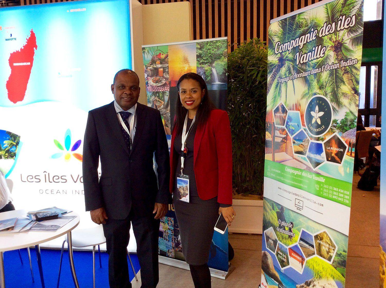 M. Didier Dogley, Ministre du Tourisme des Seychelles, et Mme. Sherin Francis du STB