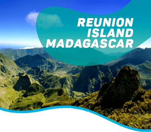 The volcanic island of Réunion and the primal forest of Madagascar