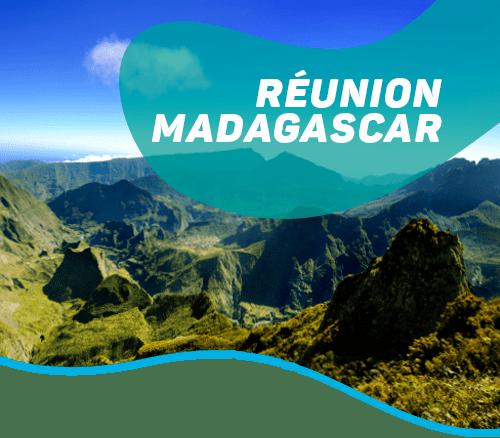 Mariage de l'île volcanique de la Réunion & de la forêt primaire de Madagascar