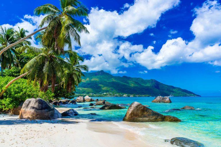 Les Seychelles - Bord d'océan rochers