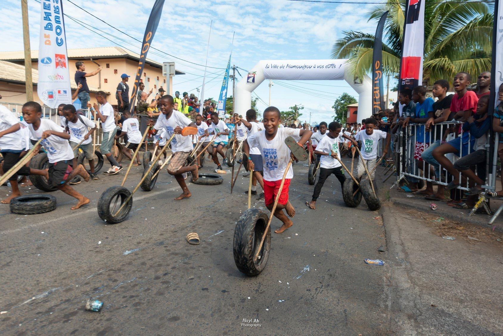 Course de pneus - Mayotte